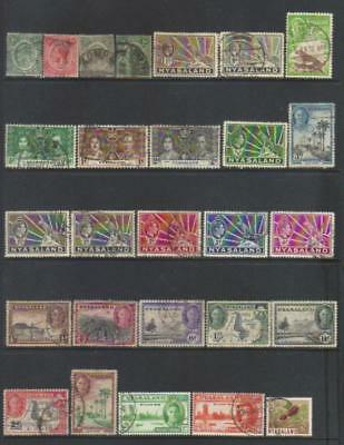 Nyasaland Protectorate 1913-1964 Used Selection Cat £41+
