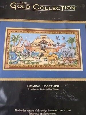 """Needlepoint Kit Gold Collection """" Coming Together"""" New by Dimensions 18"""" x 10"""""""
