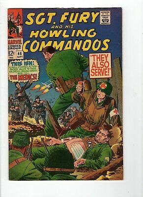 Sgt Fury and His Howling Commandos #46 F- 5.5 Off White Pages