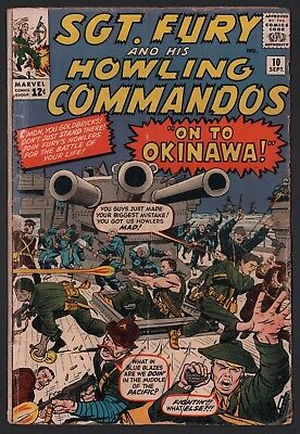 Sgt Fury & His Howling Commandos #10 G 2.0 Cream to Off White Pages