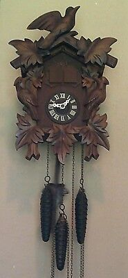 vintage Black Forest musical cuckoo clock traditional style