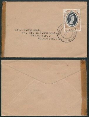 A235 Swaziland cover SouthAfrica 1953 Mbabane Robertson