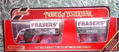 """Matchbox Y-27, 1922 Foden """"C"""" Type Steam Wagon and Trailer, Models of yesteryear"""