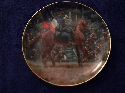 """Civil War Collector Plate: """"There Stands Jackson Like A Stone Wall"""", LIMITED ED"""