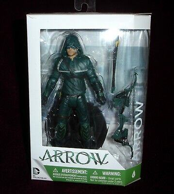 DC COLLECTIBLES CW TV SERIES GREEN ARROW ACTION FIGURE #4 w/ BONUS STAND!
