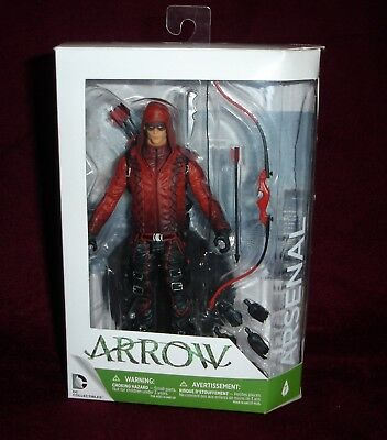 DC COLLECTIBLES CW TV SERIES RED ARROW ARSENAL ACTION FIGURE #7 w/ BONUS STAND!