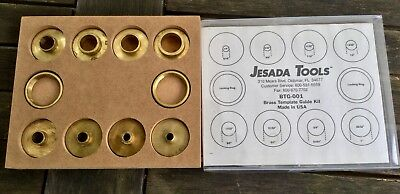 Jesada Tools USA Made Brass Template Router Guide Kit BTG-001