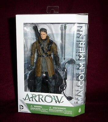 Dc Collectibles Arrow Cw Tv Series Malcolm Merlyn Dark Archer #12 + Figure Stand