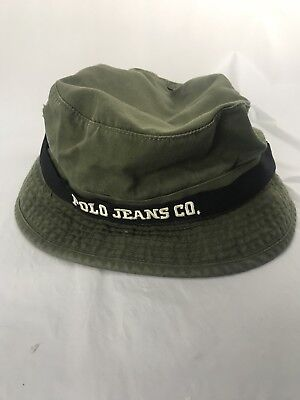 Polo Jeans Co. Ralph Lauren Green Classic Bucket Hat Men's One Size