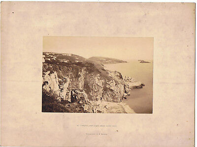 Mounted  Photograph By Francis Bedford - 52 Torquay From Daddy Hole , Devon
