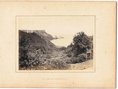 Mounted  Photograph By Francis Bedford - 1294 Ansteys Cove From Road 1  , Devon