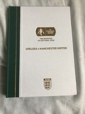 LIMITED EDITION HARD BACK FA CUP FINAL 2018 CHELSEA v MANCHESTER UNITED 19th May