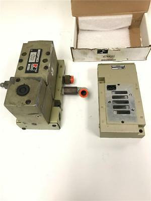 """ROSS 474K91 Solenoid Valve Block & 1 Used Assembly W7076A3331 2PC LOT 3/8"""" FNPT"""