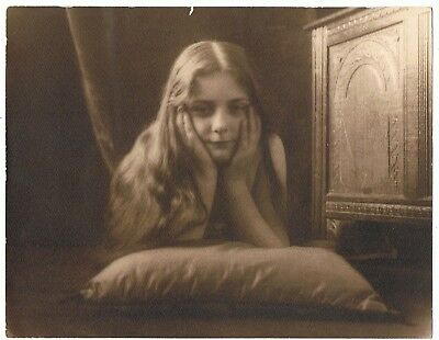 Pictorialist Portrait Of A Pretty Young Girl