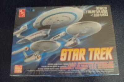 STAR TREK  - SPACE SHIP SET  U.S.S. Enterprise NCC 1701 + A + B - amt NEU/OVP