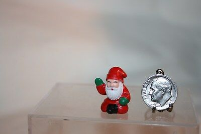 Miniature Dollhouse Vintage Santa Sitting Christmas Figurine 1:12 NR