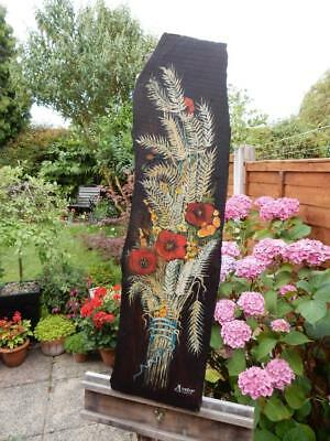 Old Barge Wear Floral Painted Wood Plaque