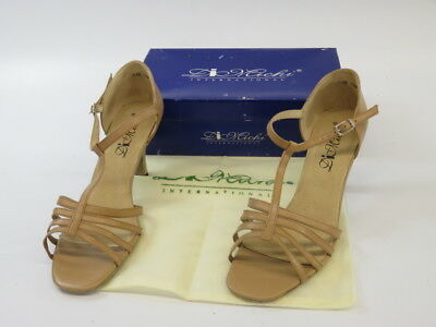 DiMichi Kiki Leather Multi-Strap Open Toe Ballroom Shoe Sandals Size 10 - UNL