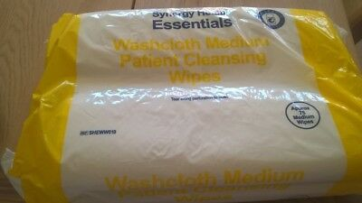 Washcloth Medium Patient Cleansing Wipes - Pack of 75 - Synergy Health