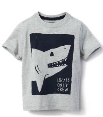 Gymboree Nwt Boys Camp Must Have Shark Locals Only Crew Shirt 3t