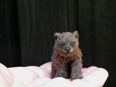 "Tiny Dollhouse Artisan Real Life Grizzly Bear 2.5"" ARTIST UNKNOWN"