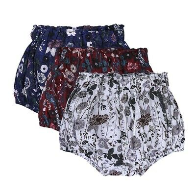 Toddler Baby Girls Floral Cotton Shorts PP Pants Nappy Diaper Covers Bloomers