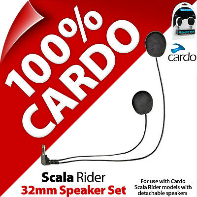 New Cardo Scala Rider 32mm Speaker Set for SmartPack PackTalk G9x G9 Q3 Q1 Qz
