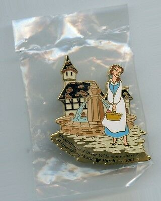 WDCC Disney Belle in Town Great Wide Somewhere Beauty & the Beast LE Pin SEALED