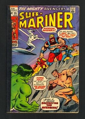 Sub-Mariner #35 - Prelude To 1st Defenders - Marvel (1971) - G/VG