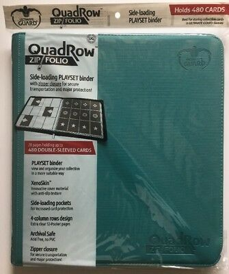 Ultimate Guard Binder 12-Pocket QuadRow Zipfolio XenoSkin Petrol MTG Pokémon NEW