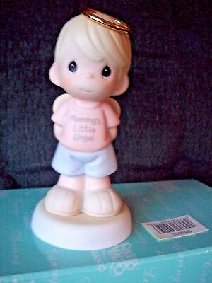 Precious Moments MOMMY'S LITTLE ANGEL BOY BLOND NEW!   ~ON SALE NOW!