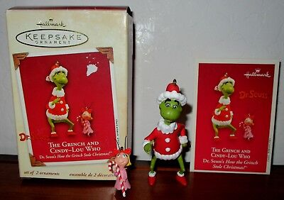 Hallmark Orament  Dr Seuss The Grinch  And Cindy Lou Who 2003