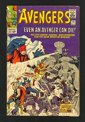 Avengers #14 - Watcher Appearance - Marvel (1965) - Silver Age - VG