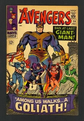 Avengers #28 - 1st Goliath - 1st Collector - Marvel (1966) - Silver Age - Fine