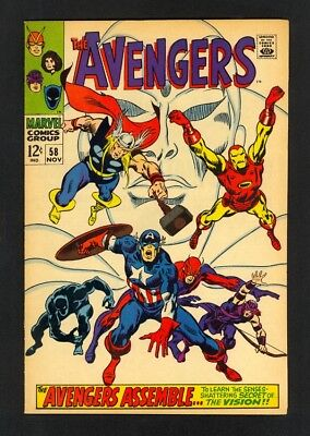 Avengers #58 - Origin Of The Vision - Marvel (1968) - Silver Age - VF