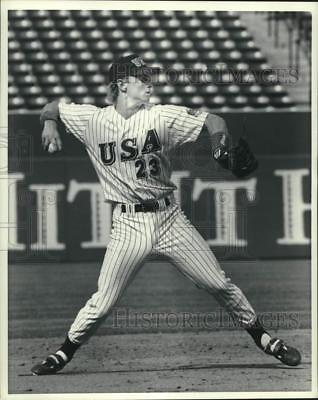 1992 Press Photo Phil Nevin of USA Olympic Baseball Team - lrs08673