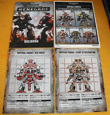 Warhammer Imperial Knight Renegade Rule Book Set 1 of 2