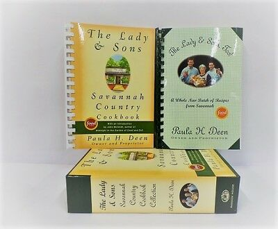 Food Network Paula Deen-The Lady & Sons Savannah Country Cookbook Collection Set