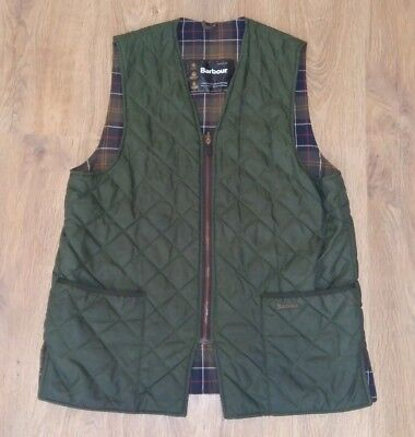 Barbour A855 Quilted Waistcoat olive green vest gilet size C44/112CM (L)