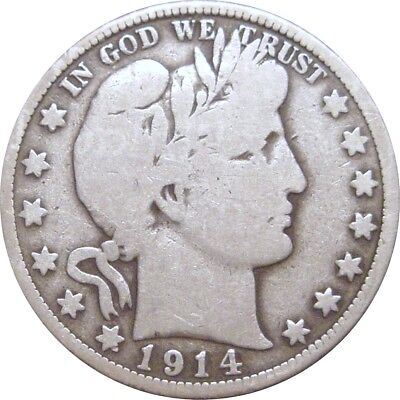 1914 Barber Half Dollar--Very Good