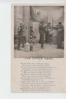 Ship deck scene with rhyme to 'The Little Hero'