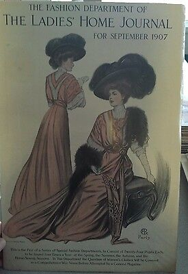 1907 The Fashion Department of the Ladies' Home Journal First Issue - Cover Only