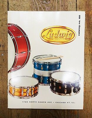 Vintage/Collectors/Rare 1960 Ludwig Drums Catalogue No. 60 Package (WFL/'60s)