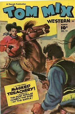 Tom Mix Western #15 VG/F 5.0 Fawcett 1949 See My Store