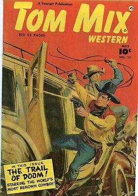 Tom Mix Western #17 VG/F 5.0 Fawcett 1949 See My Store
