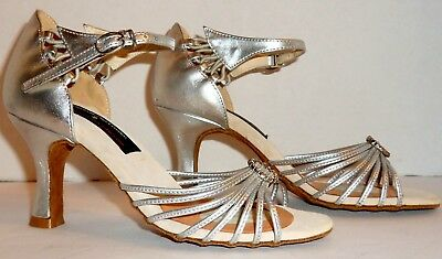 New Stephanie Professional Leather Ballroom Dance Heels Size 6 M! Free Shipping!