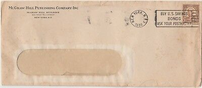 1936 McGraw-Hill Publishing Co Dunning Letter & Envelope with 1 1/2c Harding#684