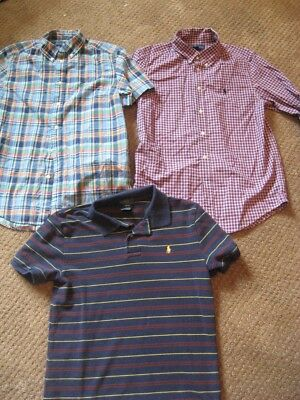 Polo Ralph Lauren Boys Size L Large 14/16 , Lot of three shirts. EUC!!