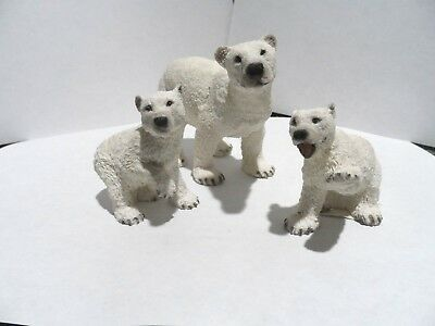 Polar Bears- Mommy and 2 Cubs -  Castagna - Made in Italy