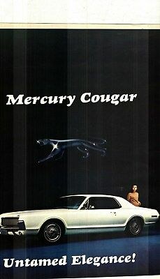 1967 Mercury Cougar Untamed Elegance! Deluxe Color Sales Brochure